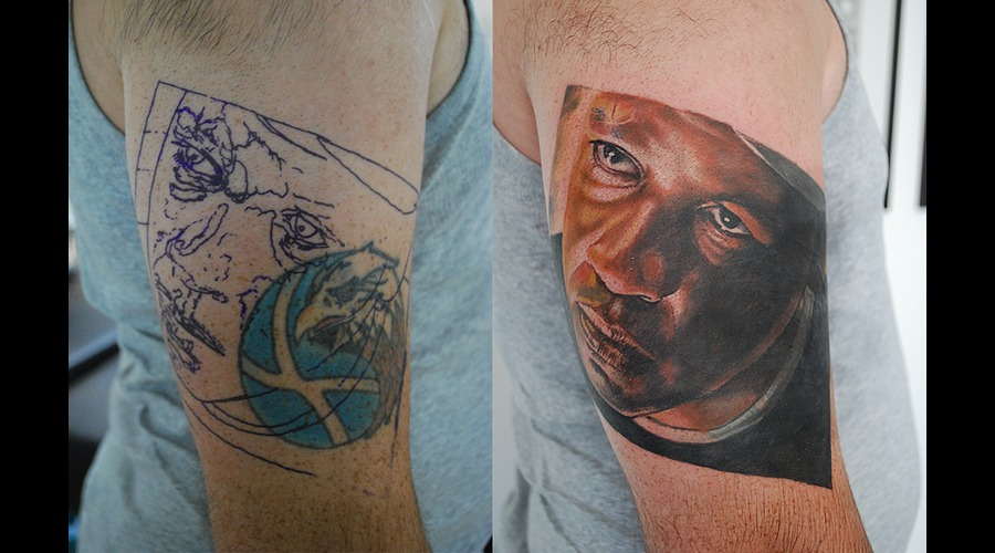 Coverup Colour Portrait Denzel Washington Arm