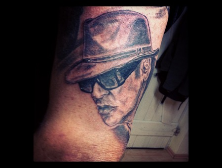 Udo Lindenberg Portrait Arm