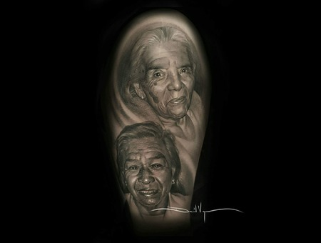 Portrait  Black And Grey  Realism Arm