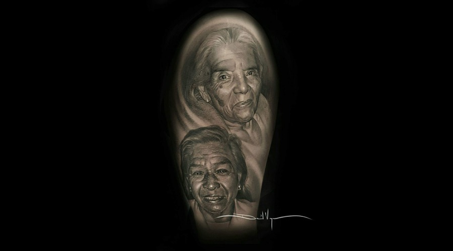 Portrait  Black And Grey  Realism Arm