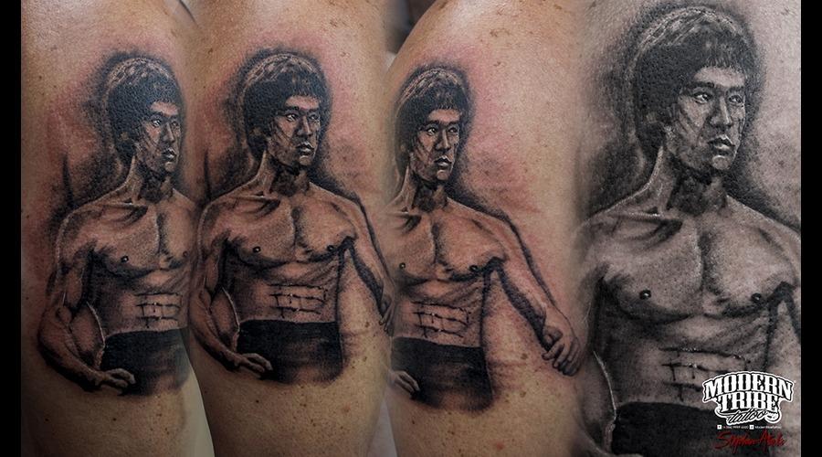 Bruce Lee  Portrait Arm