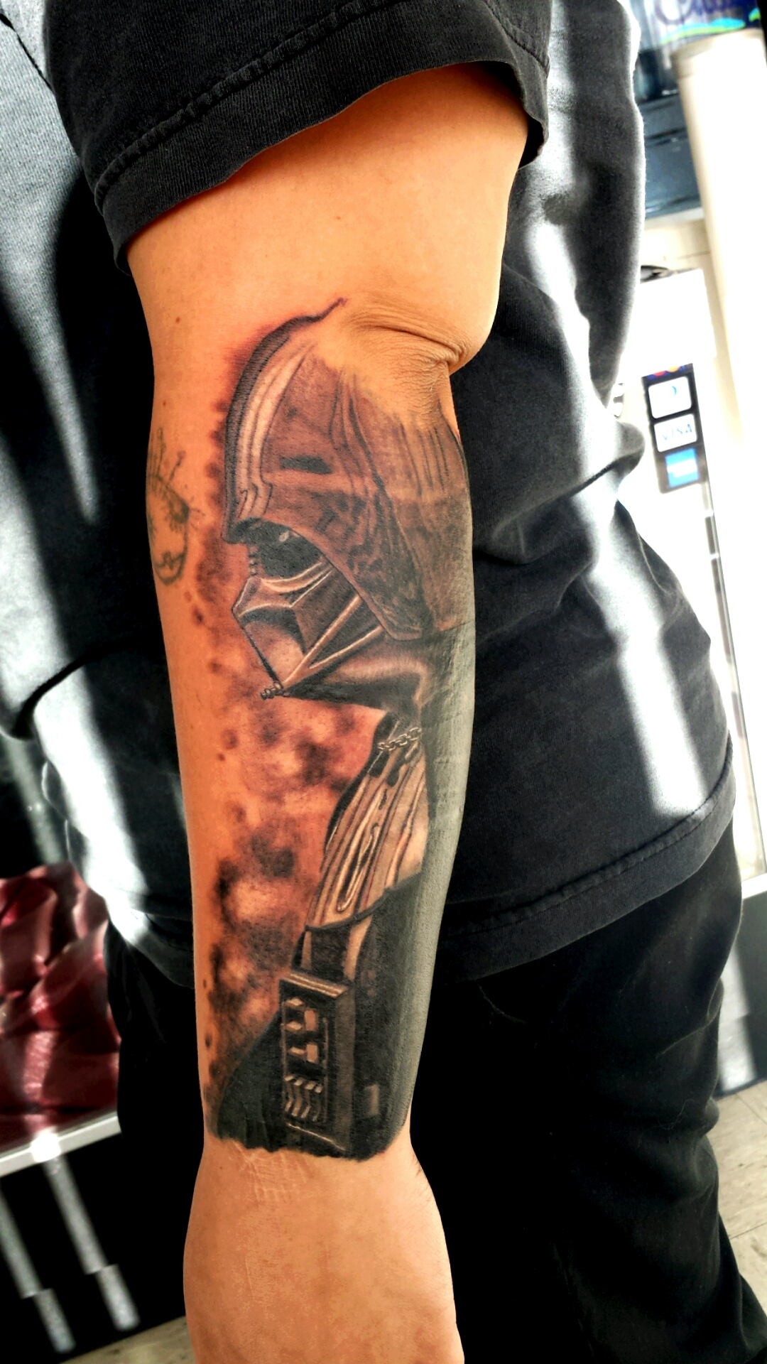 Amazing Watercolor Darth Vader Tattoo By Jason Star Wars