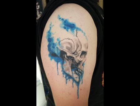 Skull  Watercolor Arm