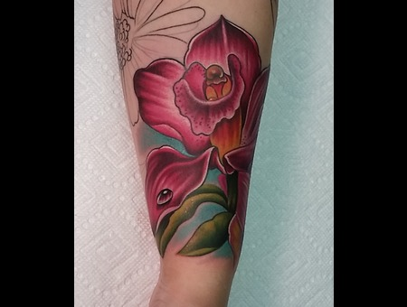 Flower  Color  Orchid  Girly  Forearm Color Forearm