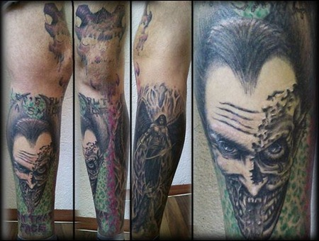Joker  Angel  Skull Lower Leg