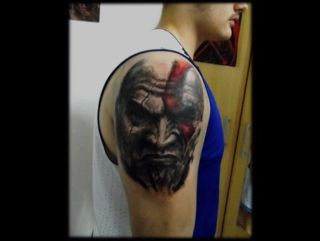Go W  God Of War  Kratos  Portrait  Realistic Shoulder