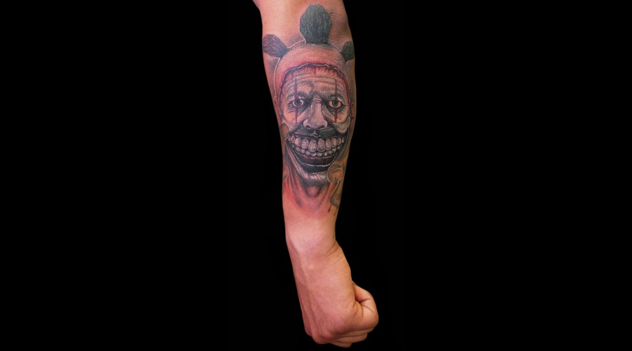 Twisty  Ahs  Horror  Clown  Forearm