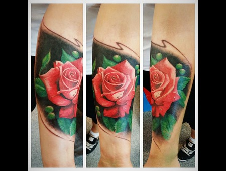 Rose Colour Realisim Forearm