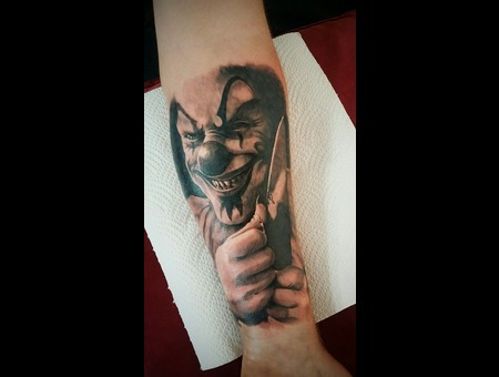 Killer Clown Pyscho Forearm