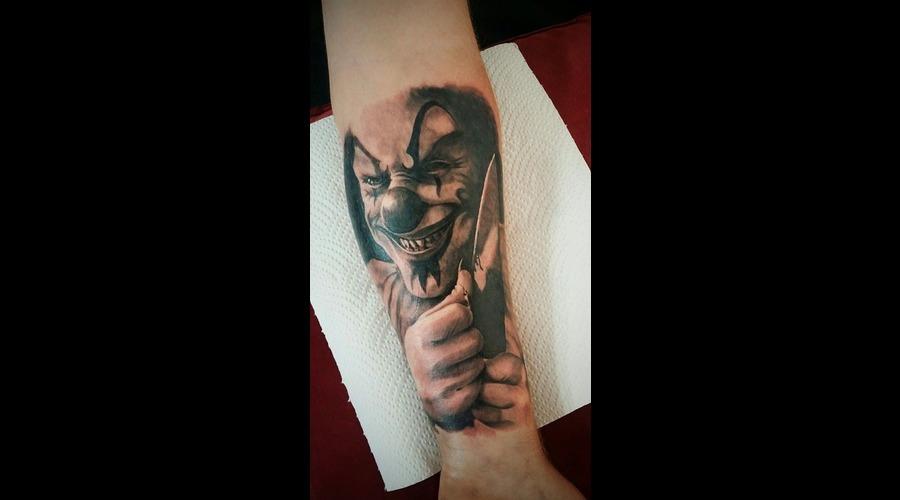 Killer Clown Pyscho Forearm