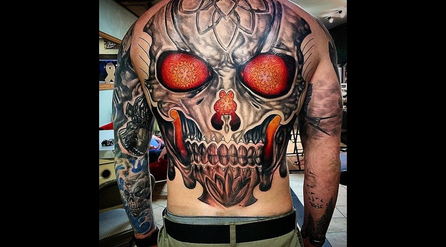 Skull  Celtic  Backpiece Back
