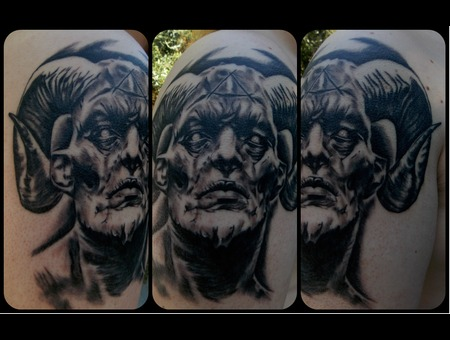 Demon  Horns  Realism Arm