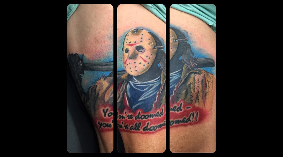 Horror Leg Sleeve  Jason  Friday The 13th  Colour  Colour  Realism   Thigh