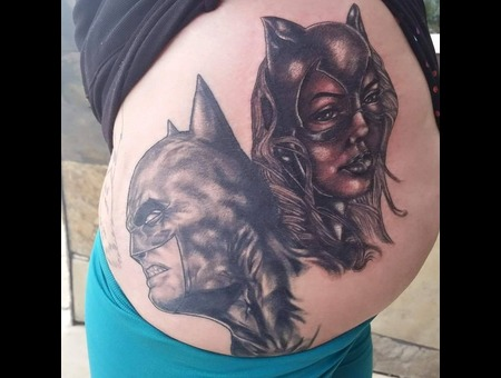 Realism Batman And Catwoman Hip