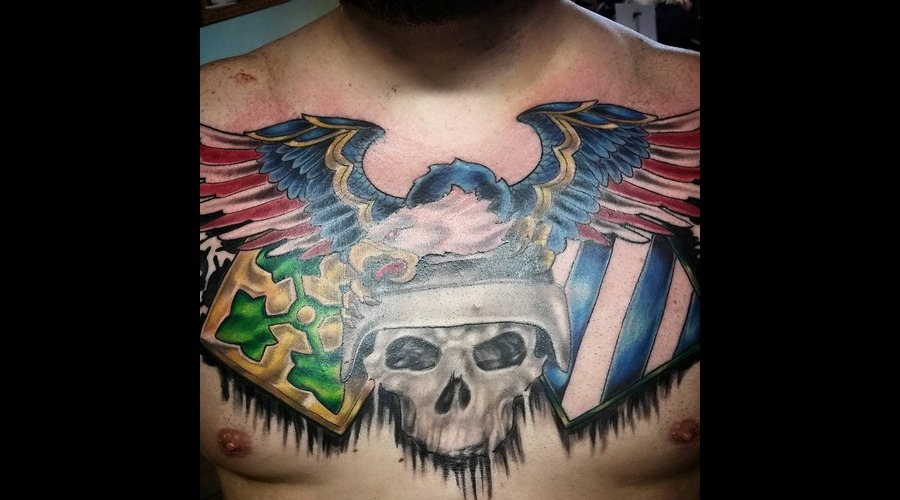 Eagle And Skull Patriotic Chest