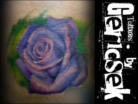 Rose  Realistic  Color  Purple  Thigh