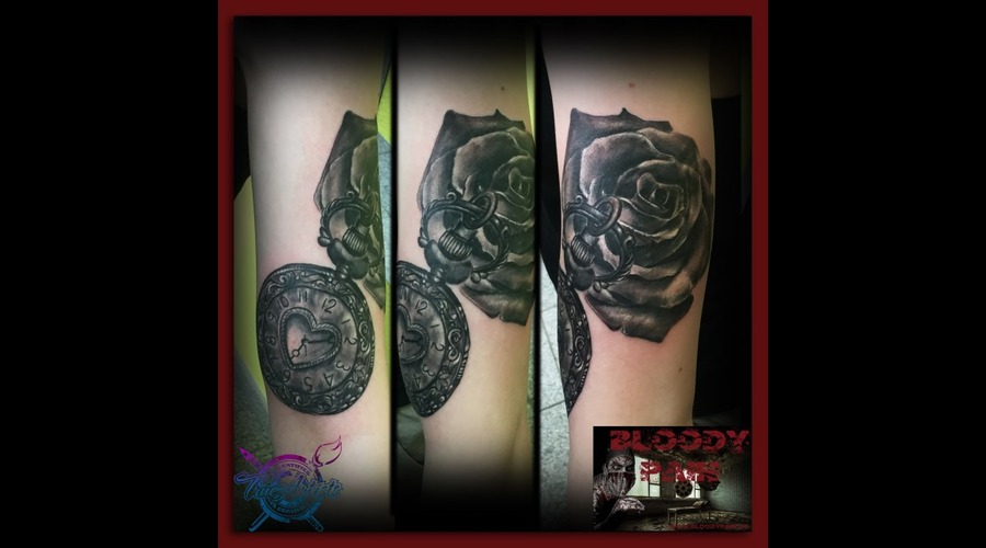 Clock  Pocketwatch  Rose   Arm