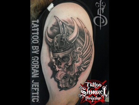 Motorcycle Tattoo Shoulder