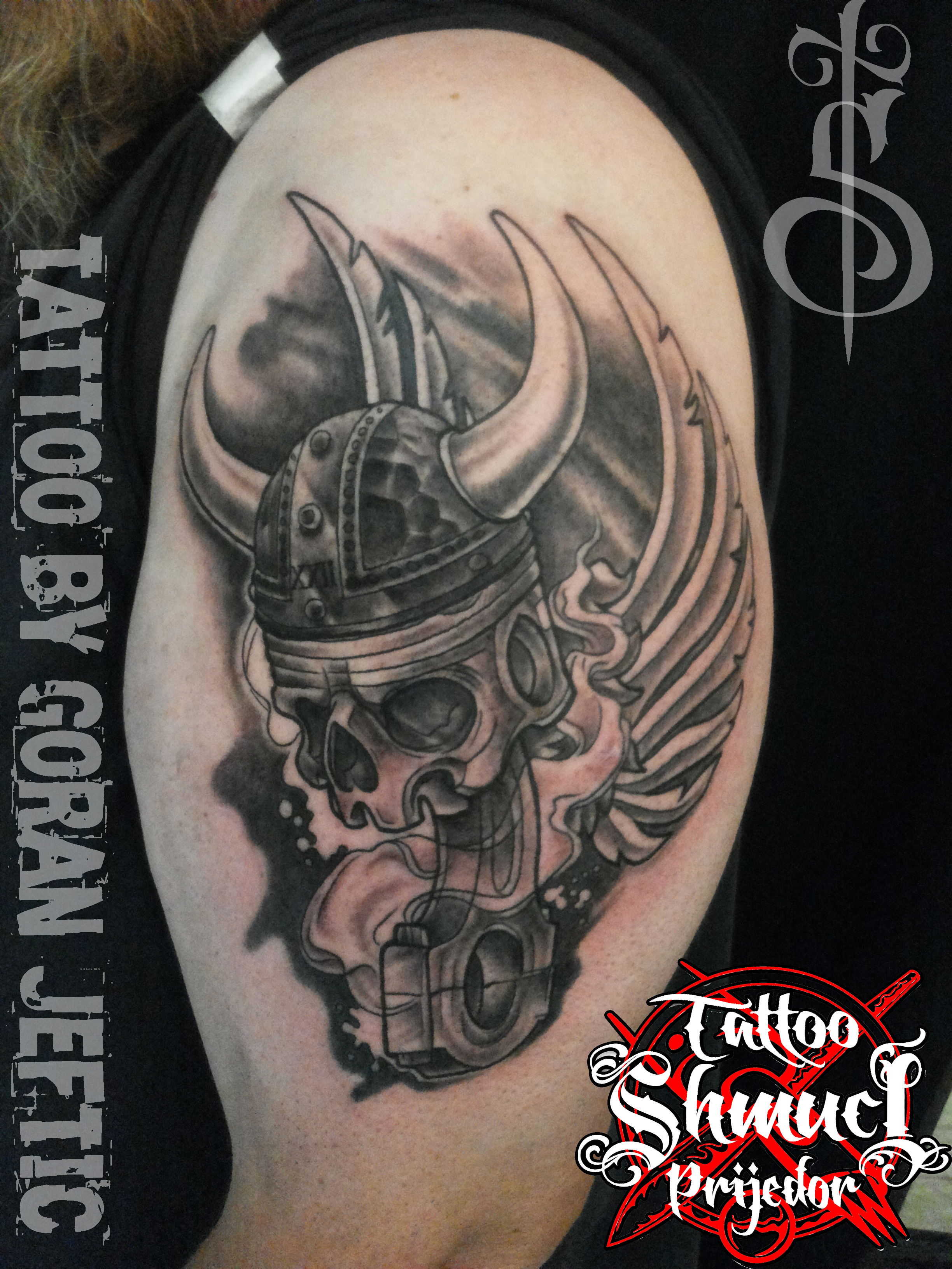 Goran jeftic certified artist for Indian motorcycle tattoo