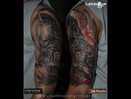 Warrior Half Sleeve Tattoo Arm