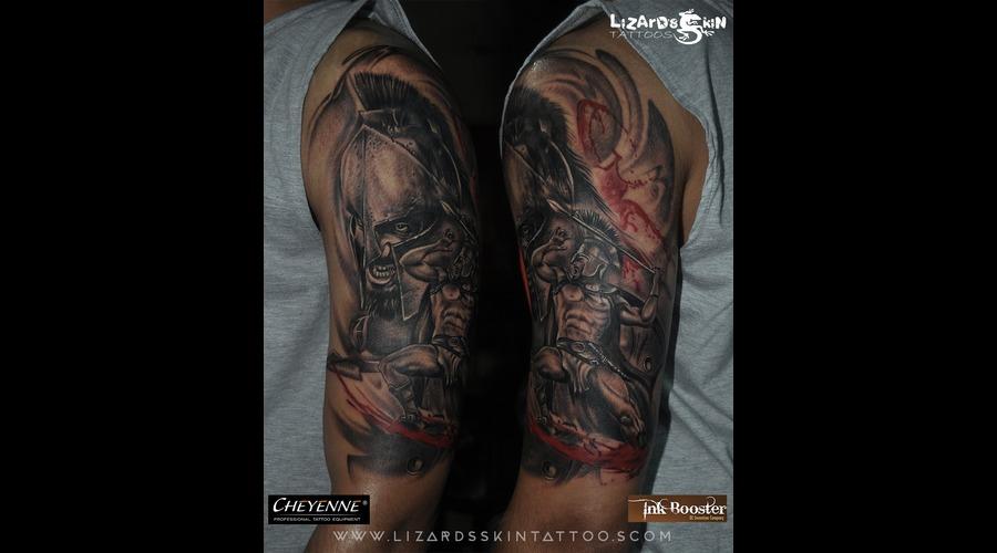 Warrior Half Sleeve Tattoo Arm