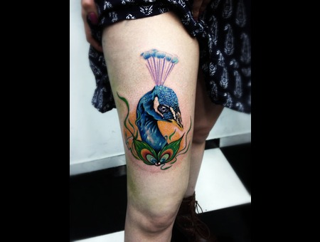 Peacock Thigh