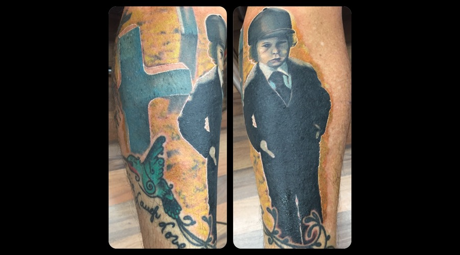 Damien  The Omen  Realism  Portrait  Colour  Color  Horror  Suit  Cross Lower Leg