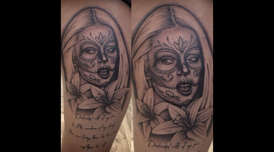 Day Of The Dead Girl Thigh
