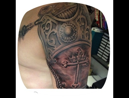 Armour Tattoos Shoulder