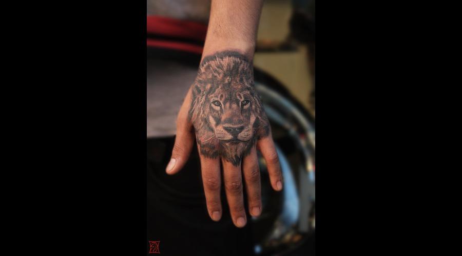 Lion Portrait Tattoo Gaborzsil Zsilvolgyi Arm