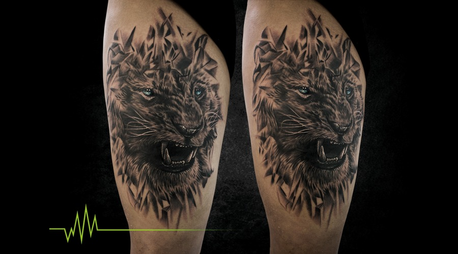 Lion  Abstract  Realistic Thigh