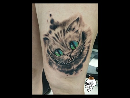 Cheshire Cat  Realism Alice In Wonderland Thigh