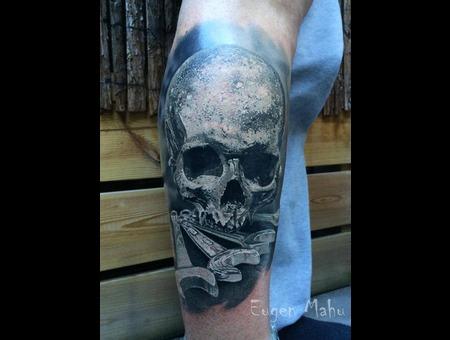 Skull  Realistic  Realism  Art  Tattoo Lower Leg