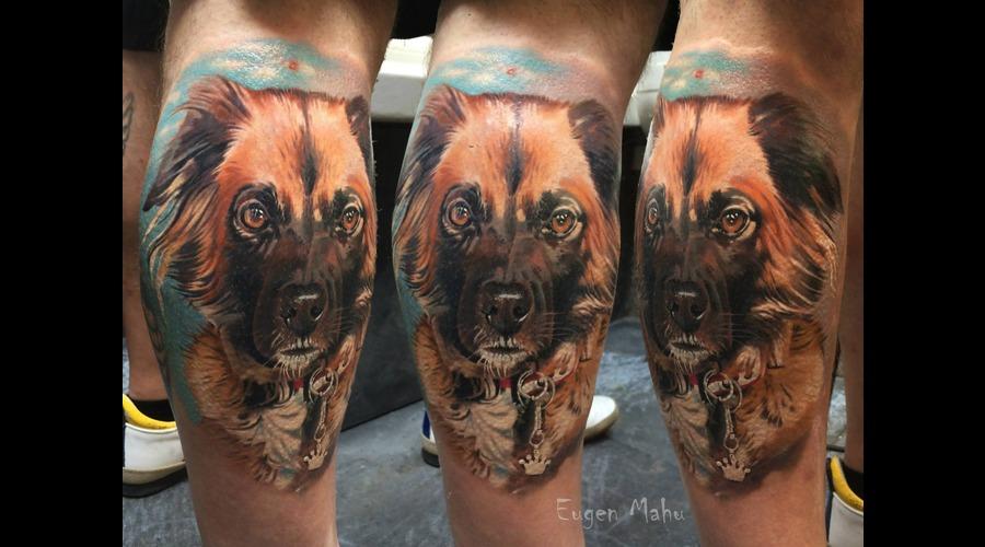 Dog  Realistic  Realism  Art  Tattoo Lower Leg