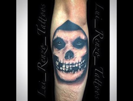 Custom  Skull  Misfits Forearm