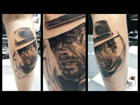 Clint Eastwood Portrait Western Realism Lower Leg