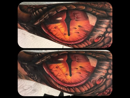 Smaug Eye Dragoneye The Hobbit Eye Of Smaug Forearm