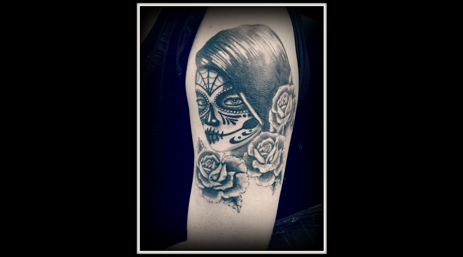 Day Of The Dead Girl  Cover Up Arm
