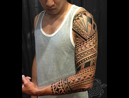 Polynesian  Marquesan  Tahitian  Samoan  Hawaiian  Tribal  Blackwork Arm