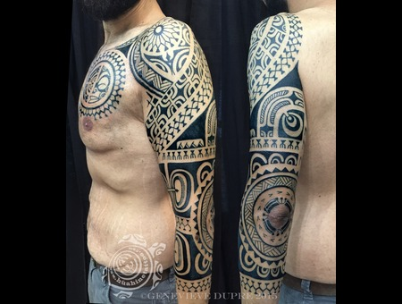 Polynesian  Marquesan  Tahitian  Hawaiian  Tribal  Blackwork Arm