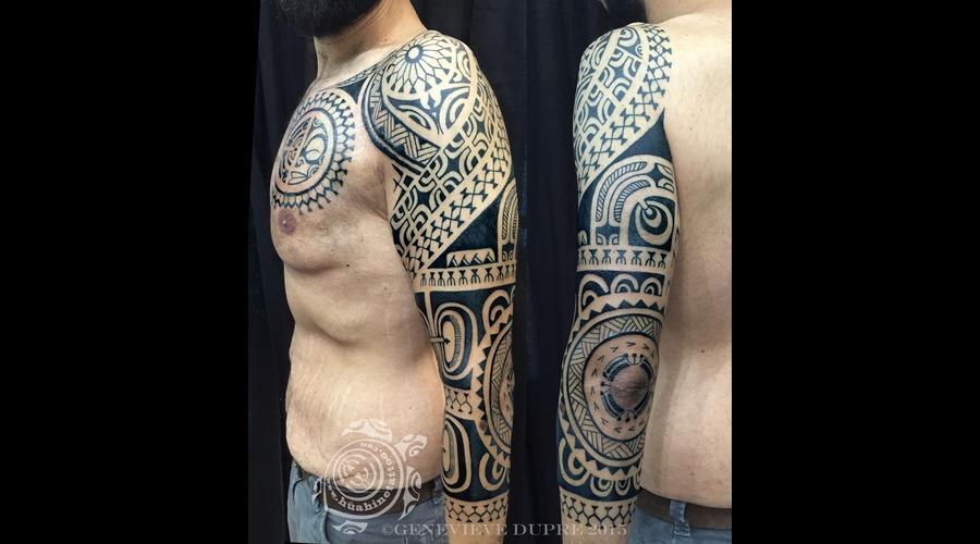 Polynesian  Marquesan  Tahitian  Hawaiian  Tribal  Blackwork Arm