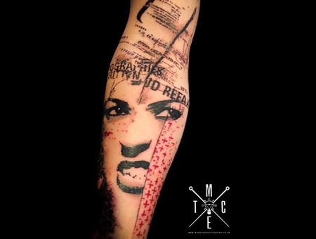 Colour Portrait  Graphical  Abstract  Realistic Trash Polka  Surrealisim  Forearm
