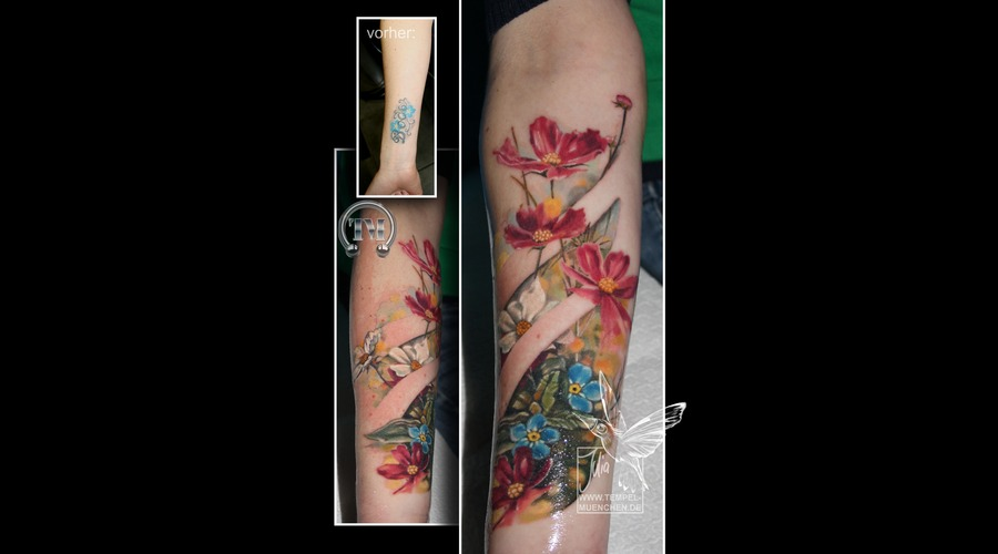 Cover Up  Flowers  Meadow   Color Forearm