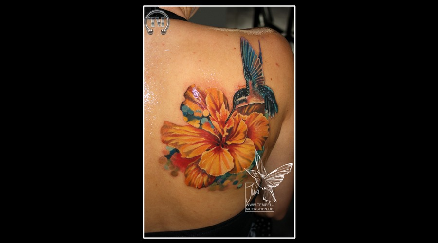 Flower  Hummingbird  Hibiscus  Pixel  Bird   Color Shoulder