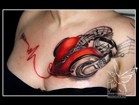 Heart  Headphones  Key  Zip  Zipper  Music  Notes  Love  Chest