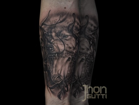 Sheep In Wolf Clothing  Oveja Disfrazada De Lobo  Tattoo  Black And Grey    Forearm