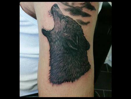 Wolf Wolftattoo Black Grey Arm