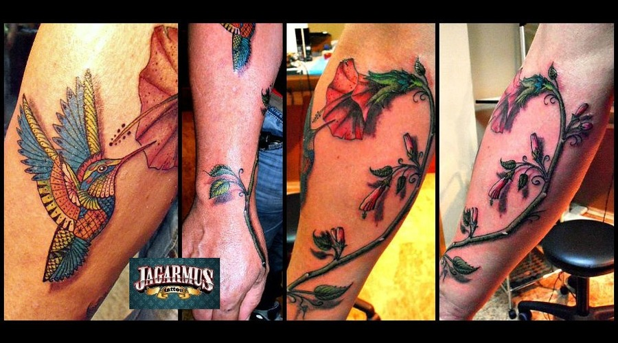 Colibri Flowers Forearm