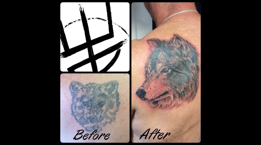 Realistic Wolf Cover Up
