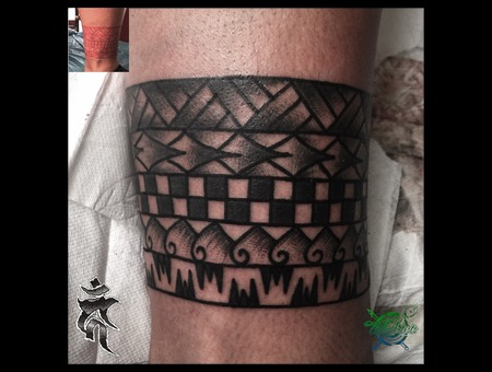 Freehand  Maori Lower Leg